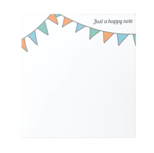 Just a Happy Note Minimalist Garland Notepad