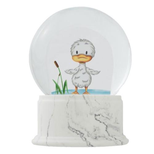 Little Duckling in the Water Nursery Snow Globe