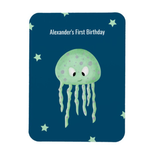 Personalized Under the Sea First Birthday Favor Magnet