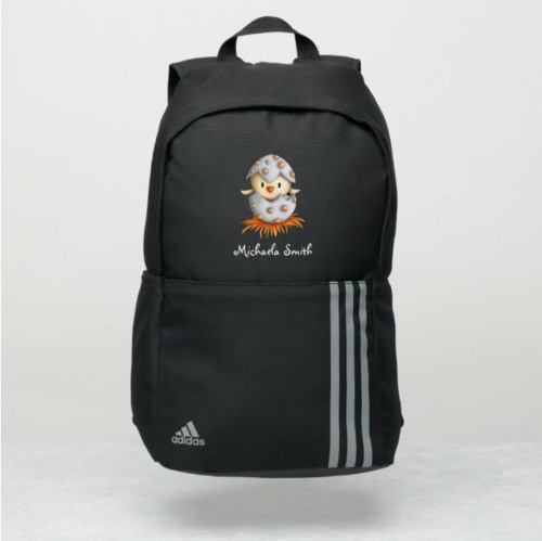 Adorable Bird Hatching from Egg Personalized Adidas Backpack
