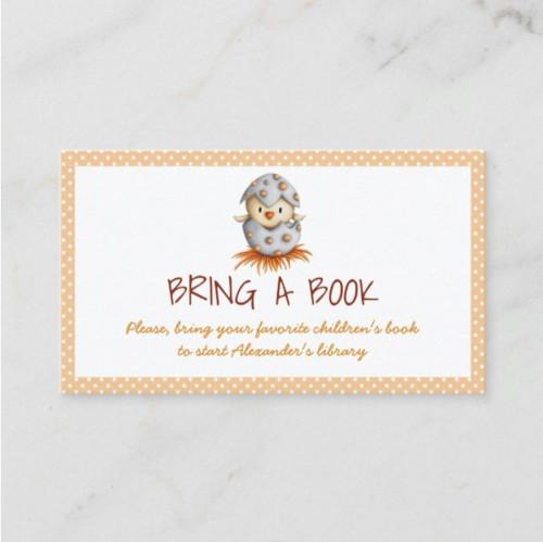 Neutral bring a book card with a bird hatching