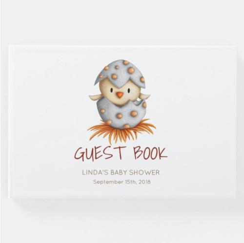 Bird hatching Baby Shower Guest Book