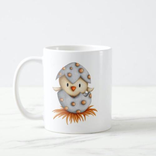 Minimalist Cute Little Bird Hatching Coffee Mug