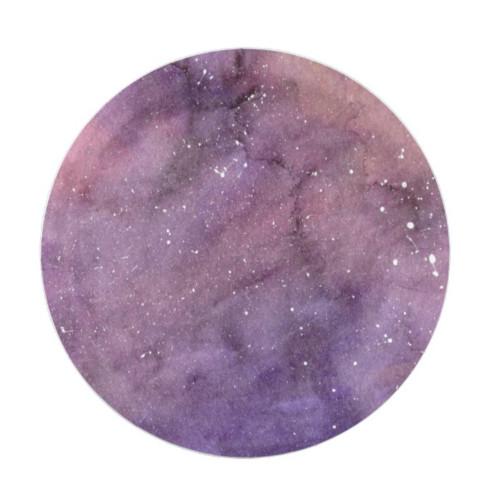 Purple Watercolor Galaxy Paper Plate