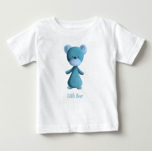 Baby Blue Little Bear Personalized Kids Baby Baby T-Shirt