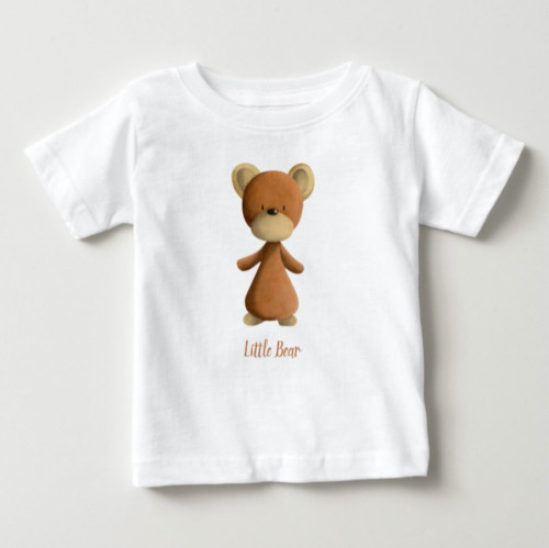 Brown Little Bear Personalized Kids Baby Baby T-Shirt