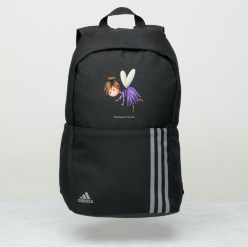 Cute Whimsical Little Fairy Personalized Adidas Backpack