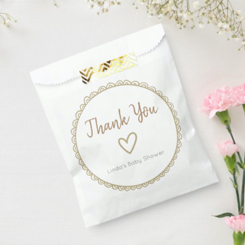 Cute Yellow Minimalist Baby Shower Thank You Favor Bag