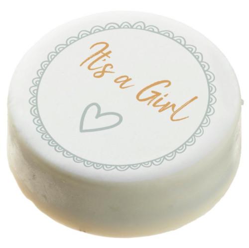 Modern Minimalist Mint Gender Neutral Baby Shower Chocolate Covered Oreo