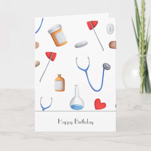 Hospital Equipment Doctor or Nurse Thank You Card