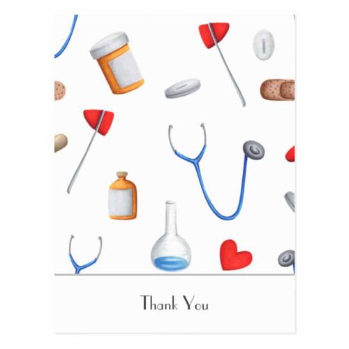 Hospital Equipment Doctor or Nurse Thank You Postcard