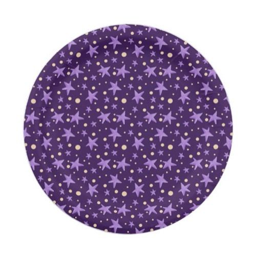 Purple Stars Violet Starry Night Party Paper Plate