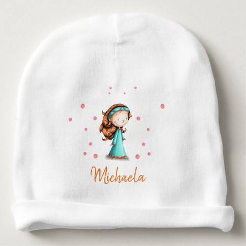 Cute princess with red hair baby hat