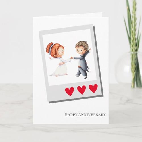 Couple Dancing Wedding Anniversary Card