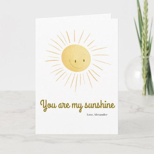 You Are My Sunshine Cute Sun Personalized Greeting Card