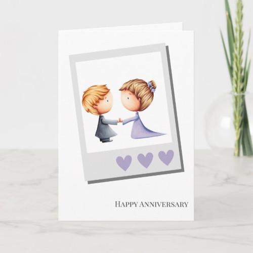 Bride and Groom Couple Wedding Anniversary  Card
