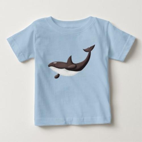 Orca killer whale cute blue Baby T-Shirt