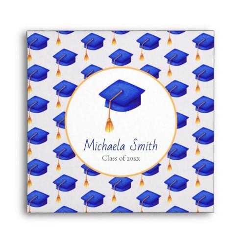 Royal Blue High School Graduation CD Sleeve envelope