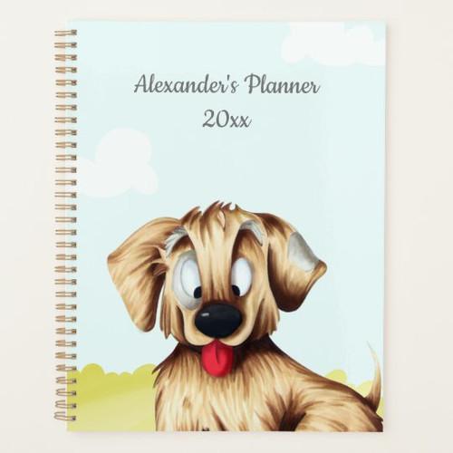 Cute Golden Retriever Dog Personalized Kids Planner