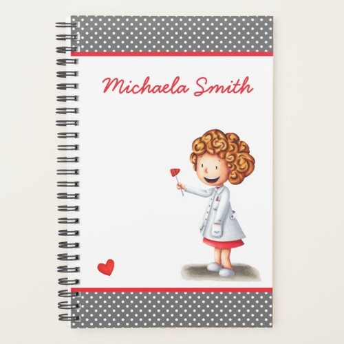 Doctor Woman with Reflex Hammer Personalized Planner