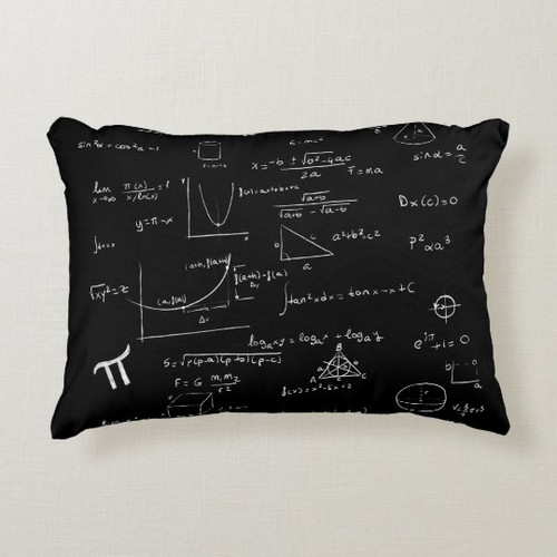 Mathematics formulas and equations personalized Accent Pillow