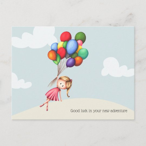Good Luck in your New Adventure Customizable Postcard