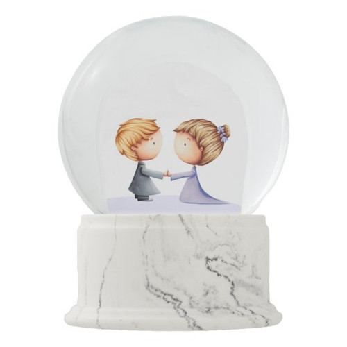 Bride and Groom Wedding Anniversary Snow Globe