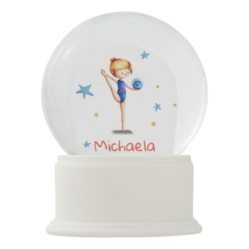 Personalized Rhythmic Gymnast with ball Snow Globe