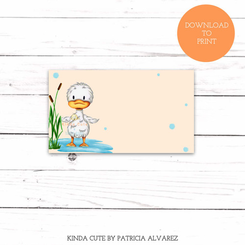 Printable Little Duckling Gender Neutral Baby Shower Place Cards