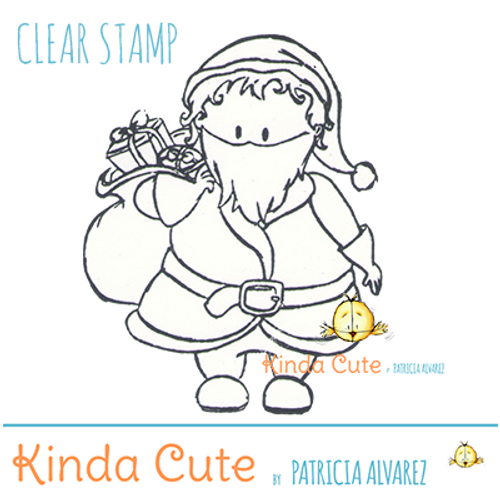 Santa Claus clear stamp. Exclusive Christmas clear stamp.