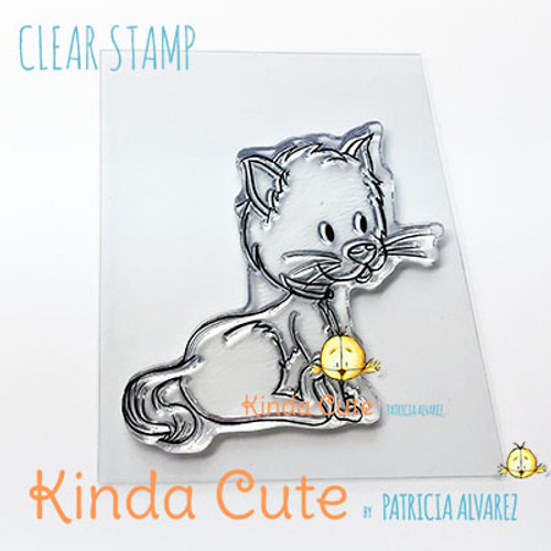Cute cat clear stamp. Art by Patricia Alvarez.