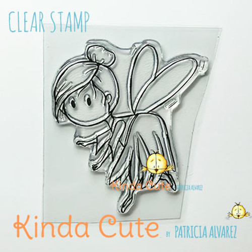 Fairy flying clear stamp