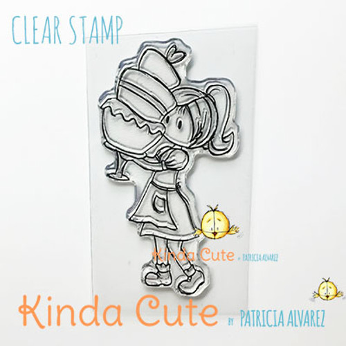Baker girl clear stamp