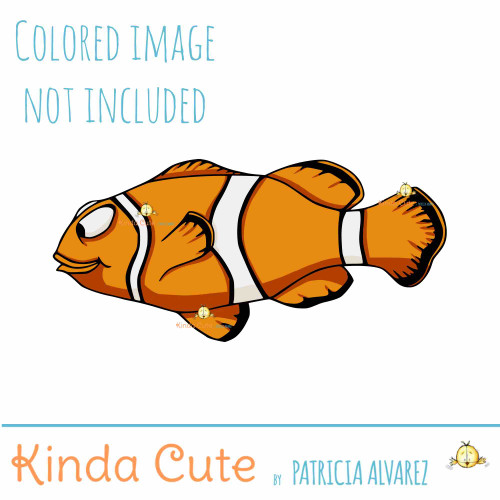 Clownfish digital stamp