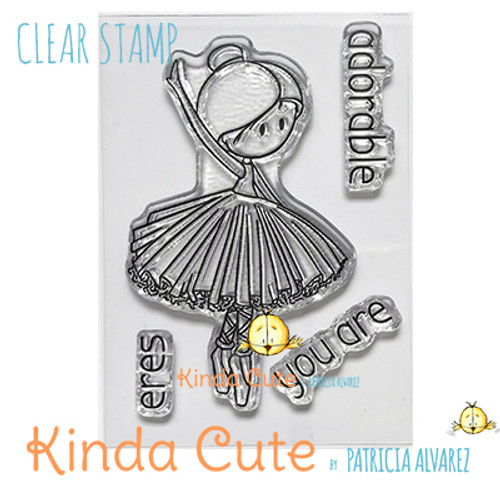 Ballerina clear stamp.