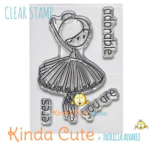 Ballerina clear stamp.
