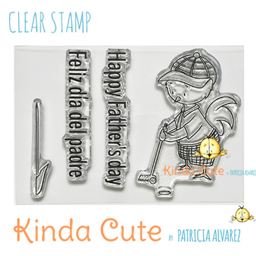 Father's day clear stamp set. Kinda Cute by Patricia Alvarez