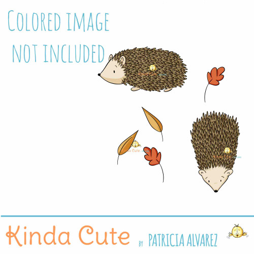 Hedgehog digital stamp set