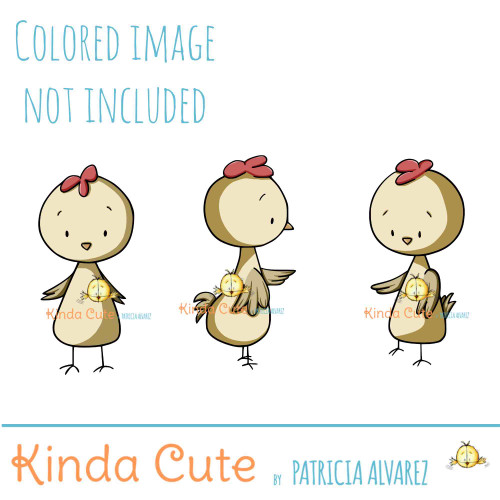 Chickens digital stamp set