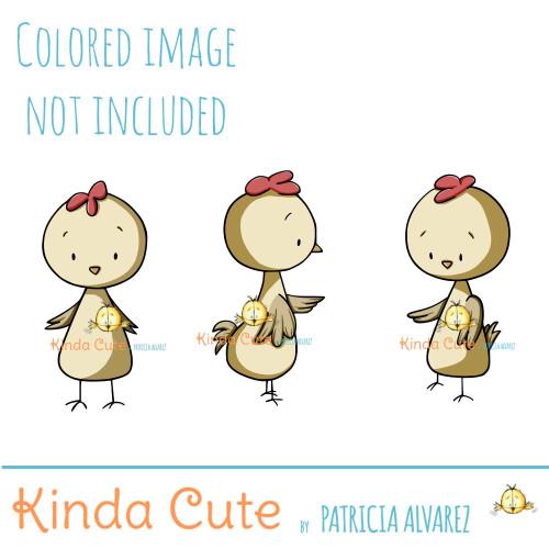 Chickens digital stamp set