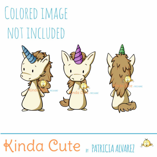 Unicorn digital stamp set