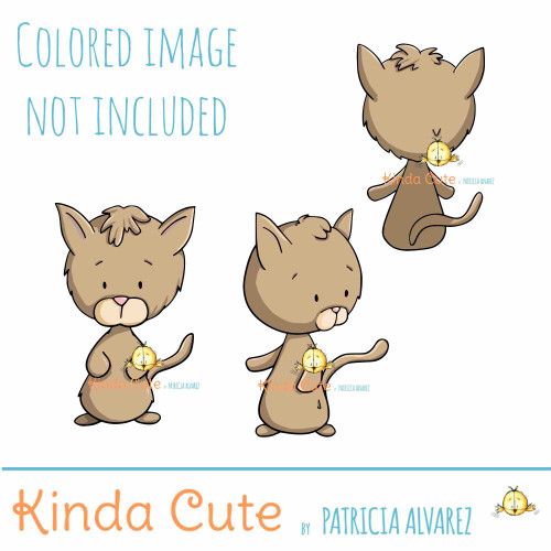Cat digital stamp set