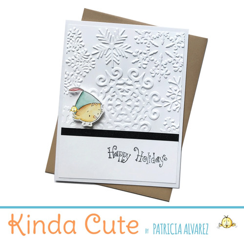 Embossed holiday card