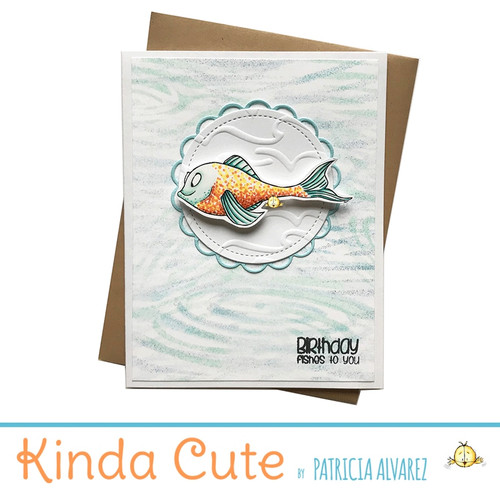 Birthday card with a fish