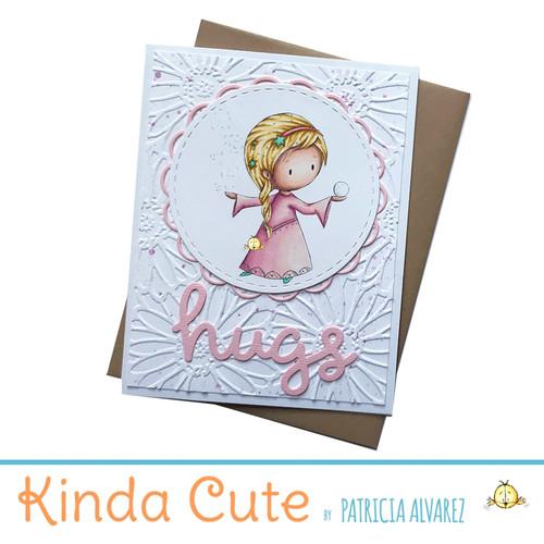 Love card with a snow princess