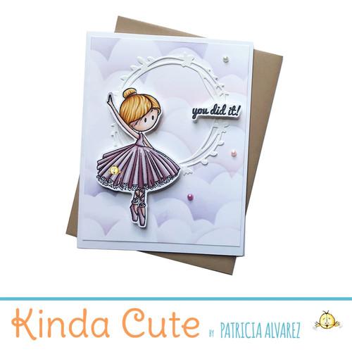 Encouragement card for ballerinas