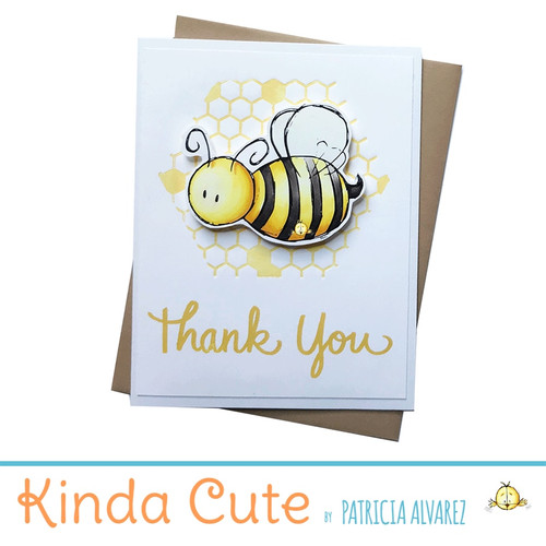 Thank you card with a bumble bee