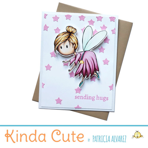 love card with a fairy