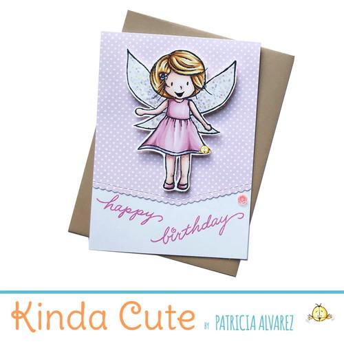 birthday card with a fairy