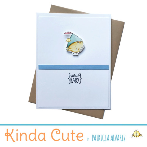 new baby card with a bird